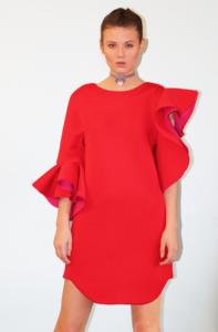LAYANA AGUILAR asymmetrical dress, close up