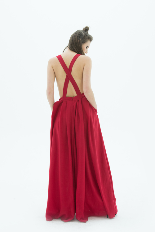 LAYANA AGUILAR fit and flare jumpsuit