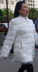 Fluffy furry coat