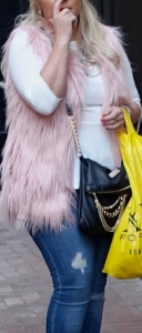 Fuzzy furry vest
