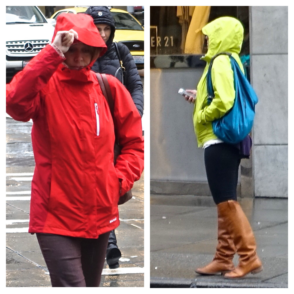 Bright colors, Seattle street style