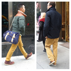 Dressing in yellow to gold, NYC