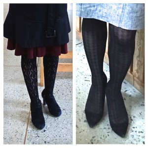 Tights as transitional wear