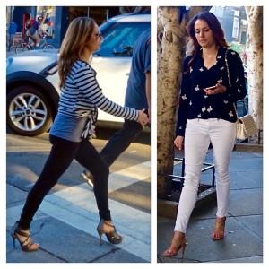 skinny pants with heels