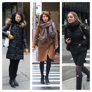 Bundling up in NYC