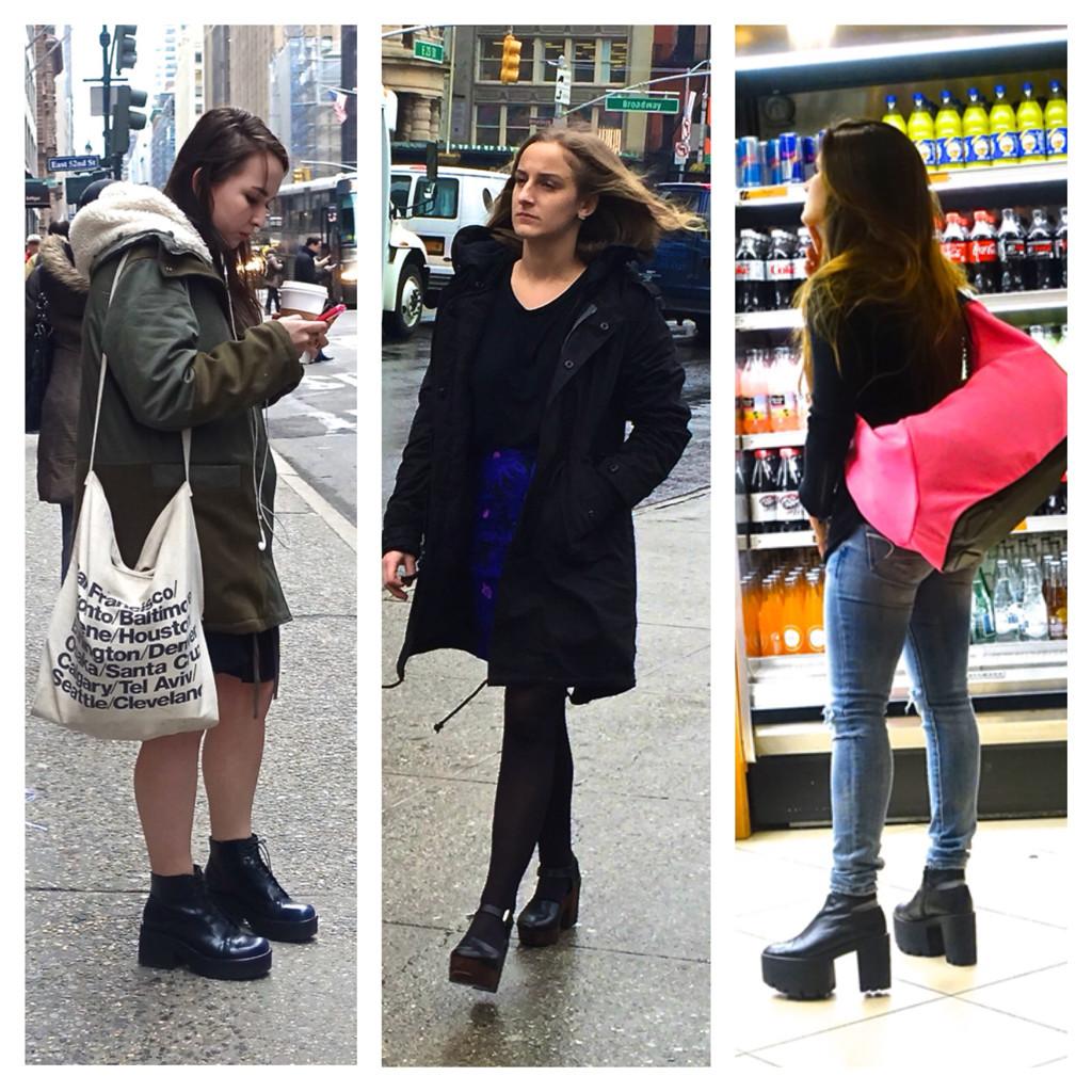 Chunky heels in NYC