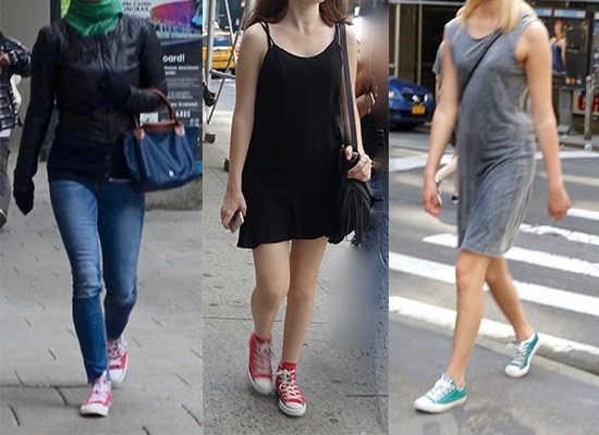 How to wear colorful Converse