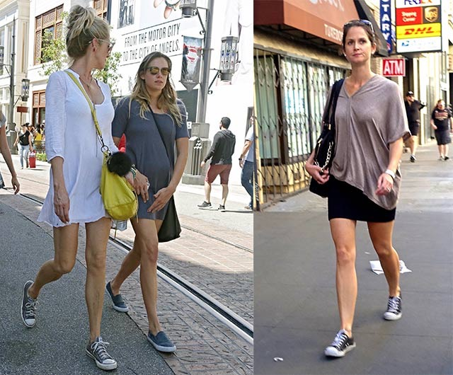 How to wear Converse - short hems