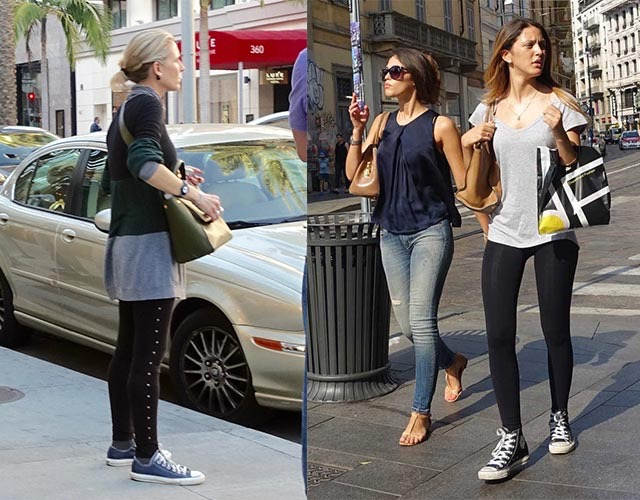How to wear Converse - with leggings with Converse