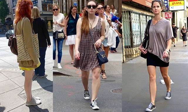 How to wear Converse - mini skirts