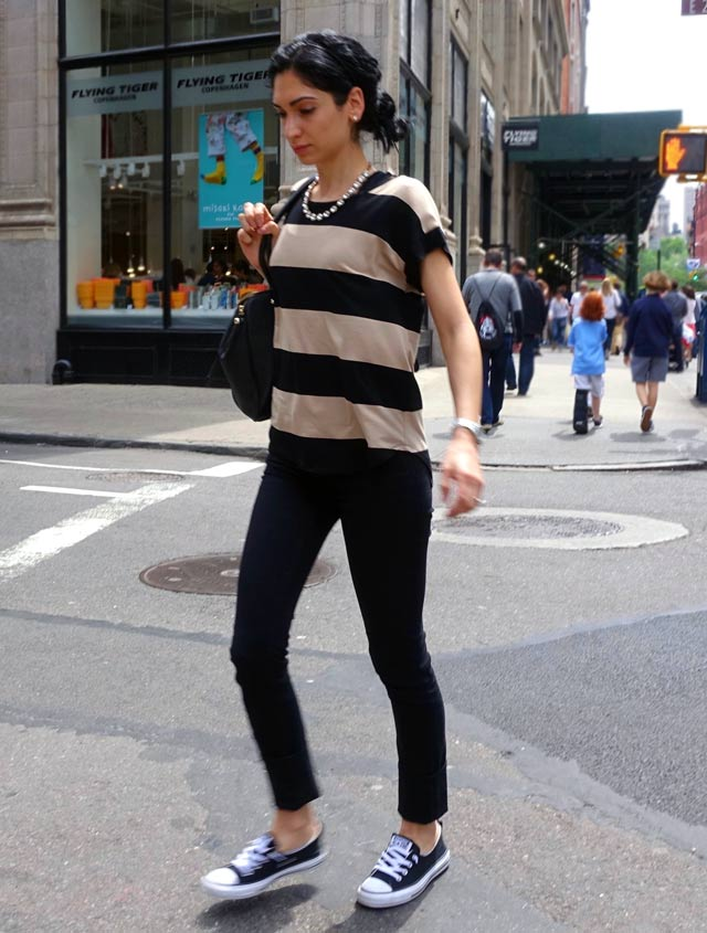 How to wear Converse - stripes