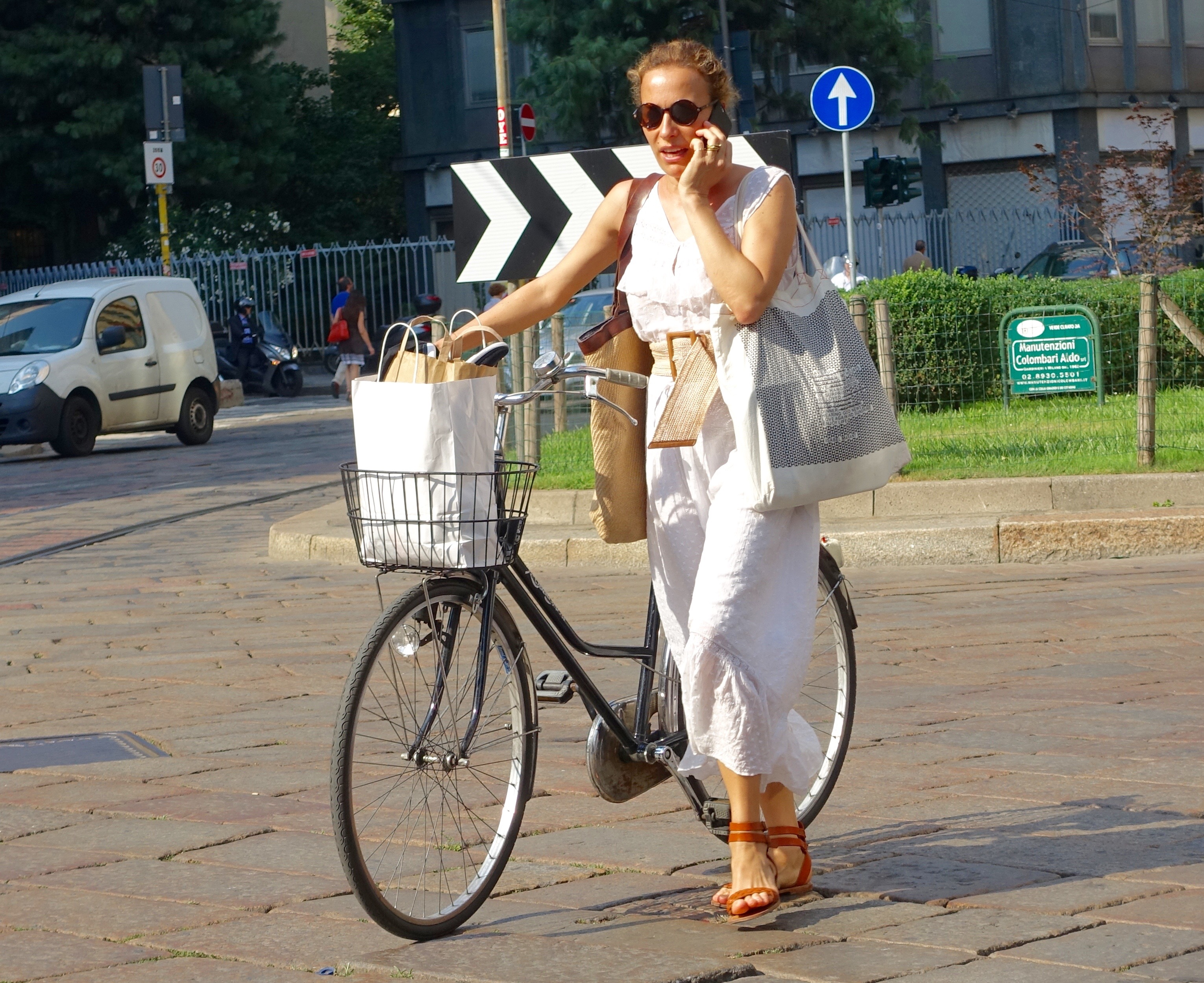 Stylish bikers of Milan