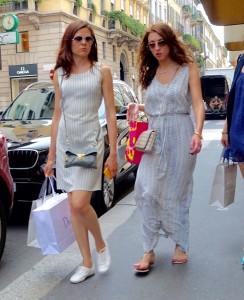 White dressing in Milan