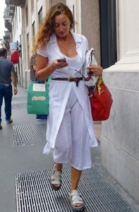 White dressing in Milan