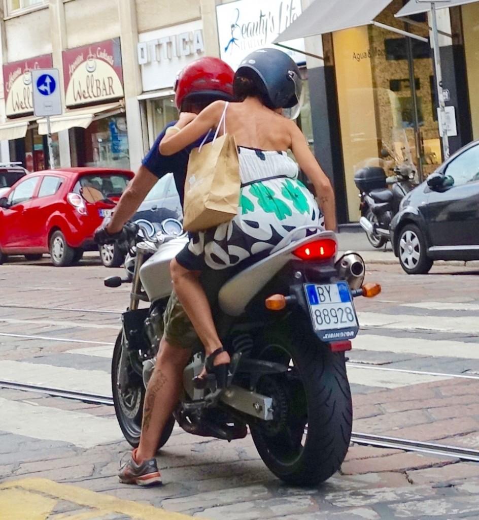 Stylish bikers of Milan