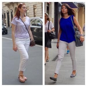 White jeans, Milan