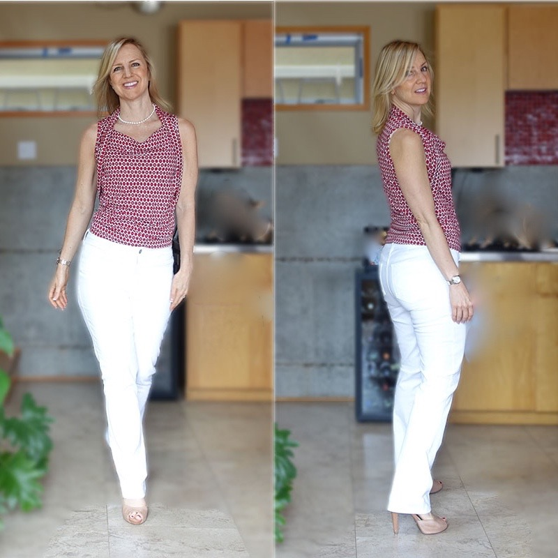 White Jeans for (Even) Curvy Hips - theSTYLEtti.com