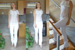 White jeans for curvy hips