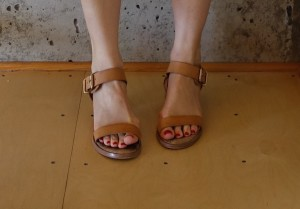 flesh-toned sandals
