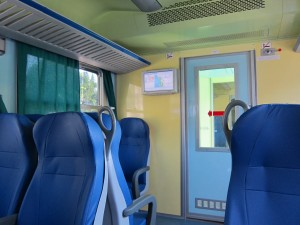 interior of Italian train