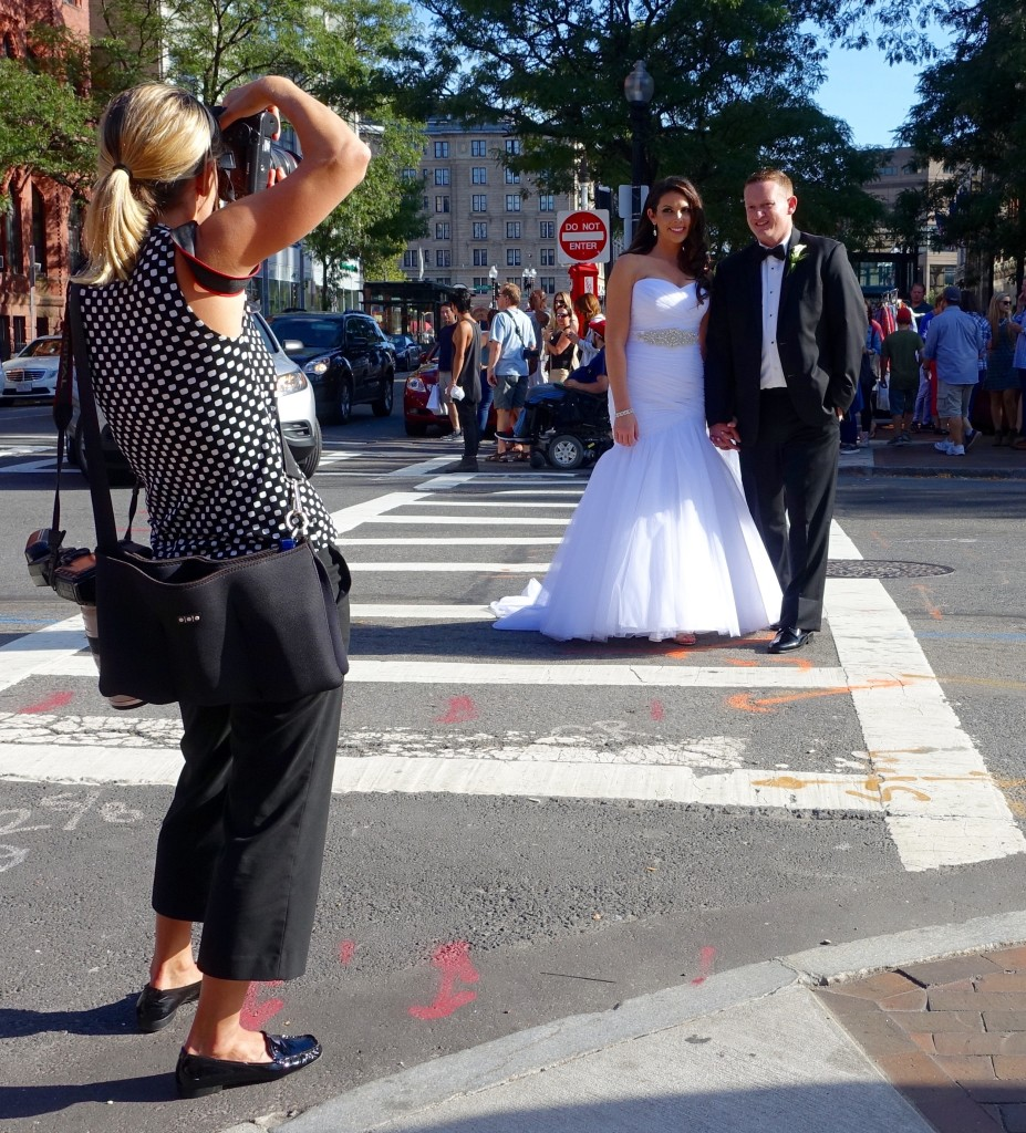 Street wedding shoot