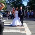 Street wedding shoot