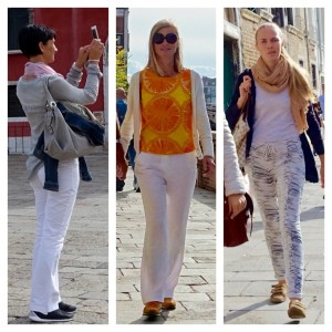 Light-colored clothing in Venice