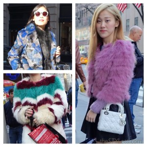 Faux fur coats in New York