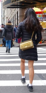 dream designer handbag: gold quilted Chanel