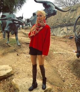 Liliya Anisimova's winter shorts look
