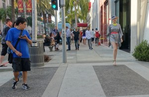 Guys heckling model on Rodeo Drive