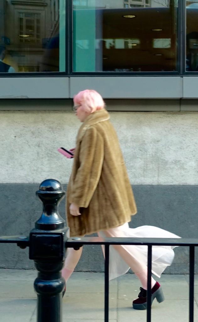 pink hair in London