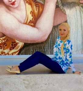 Liliya Anisimova's outfit for art and culture in L.A.