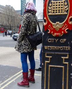leopard print in street style #3
