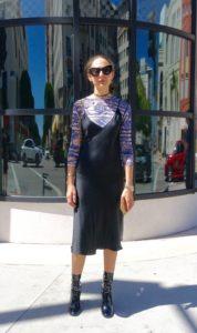 L.A. street style, slip dress