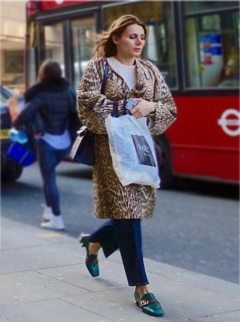leopard print in street style