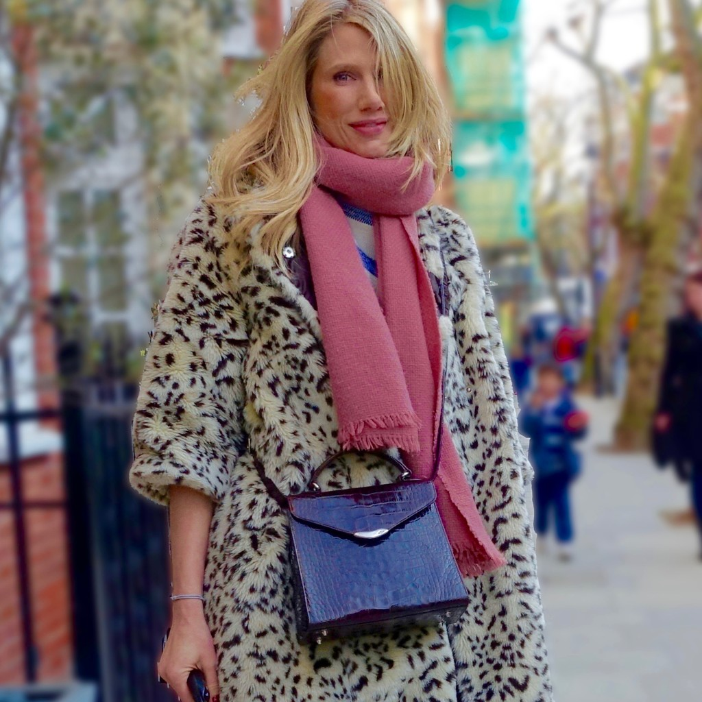 Leopard print in street style, London