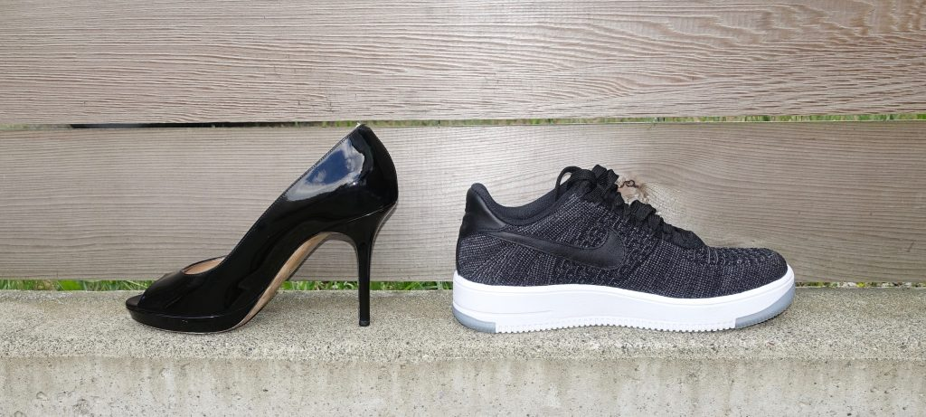 Stilettos to sneakers