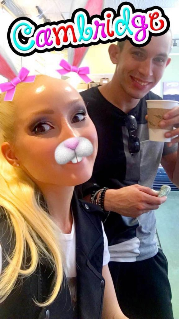Liliya's snapchat message