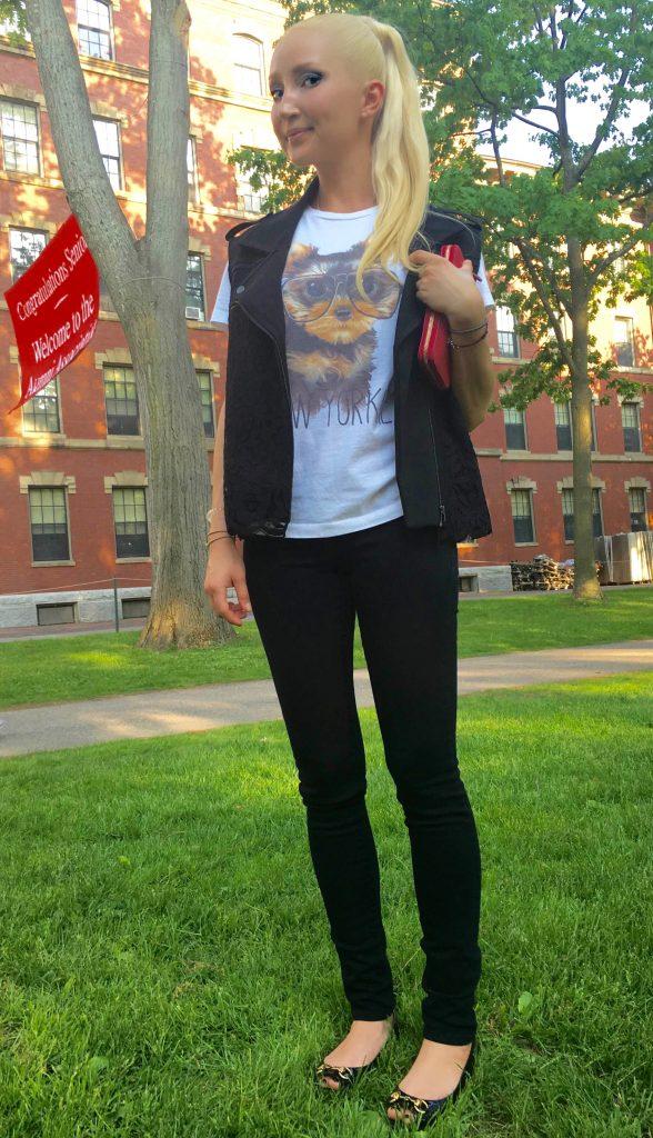 Liliya at Harvard Yard