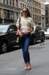 Weekend wear, jeans with heels