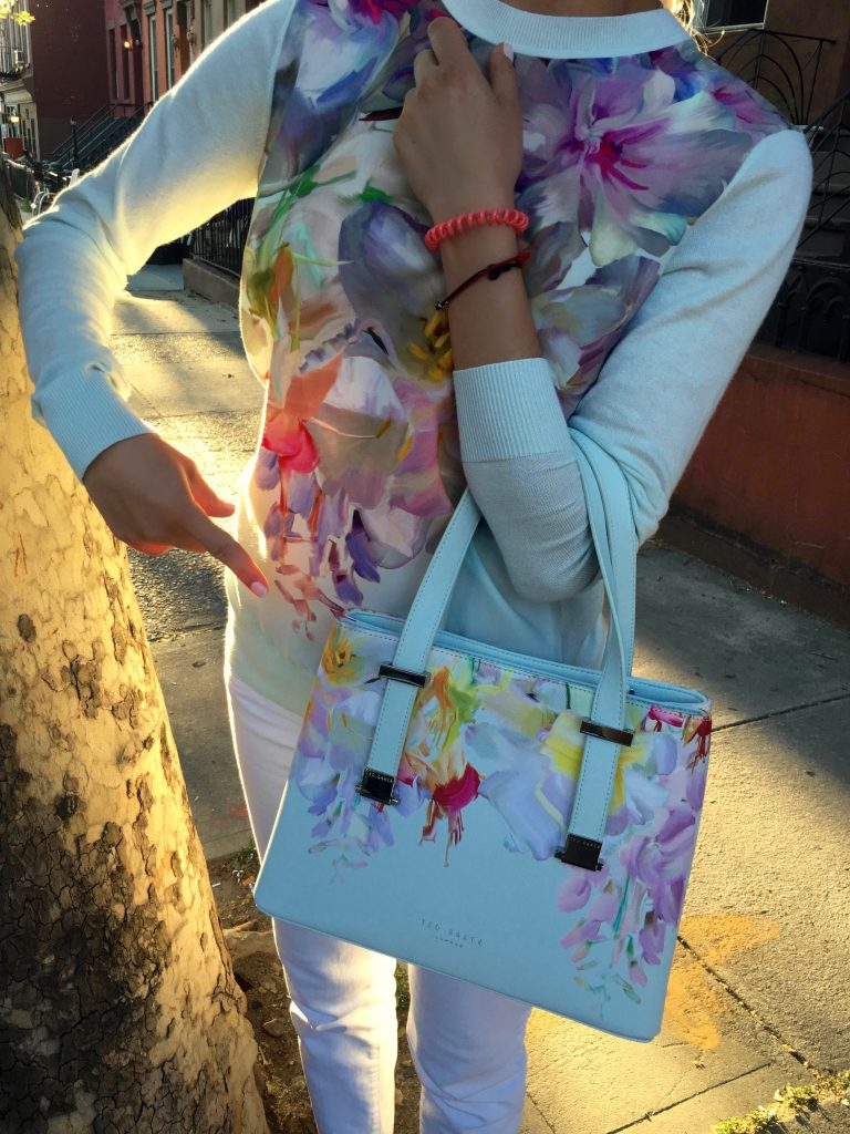 Matching Ted Baker blouse and bag