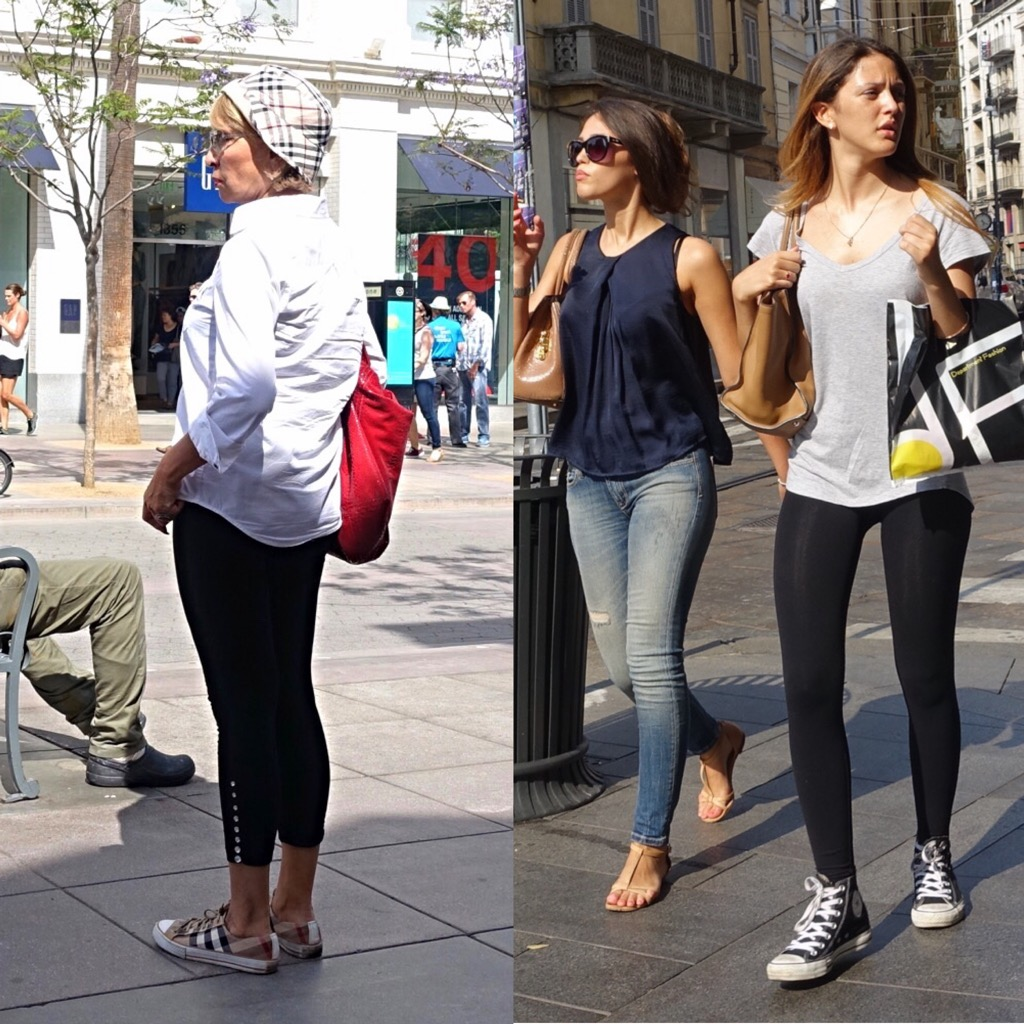 Converse street style with leggings