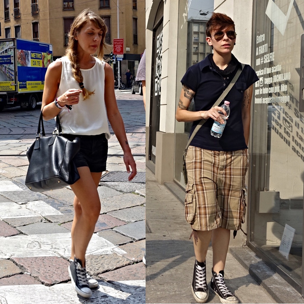 Converse street style in Milan