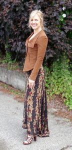 Styling gladiators with a maxi dress