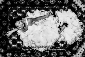 Rio Van Zant in the wedding gown shoot