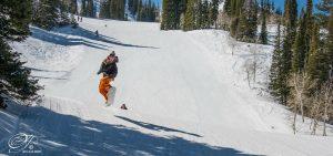 Rio Van Zant snowboarding