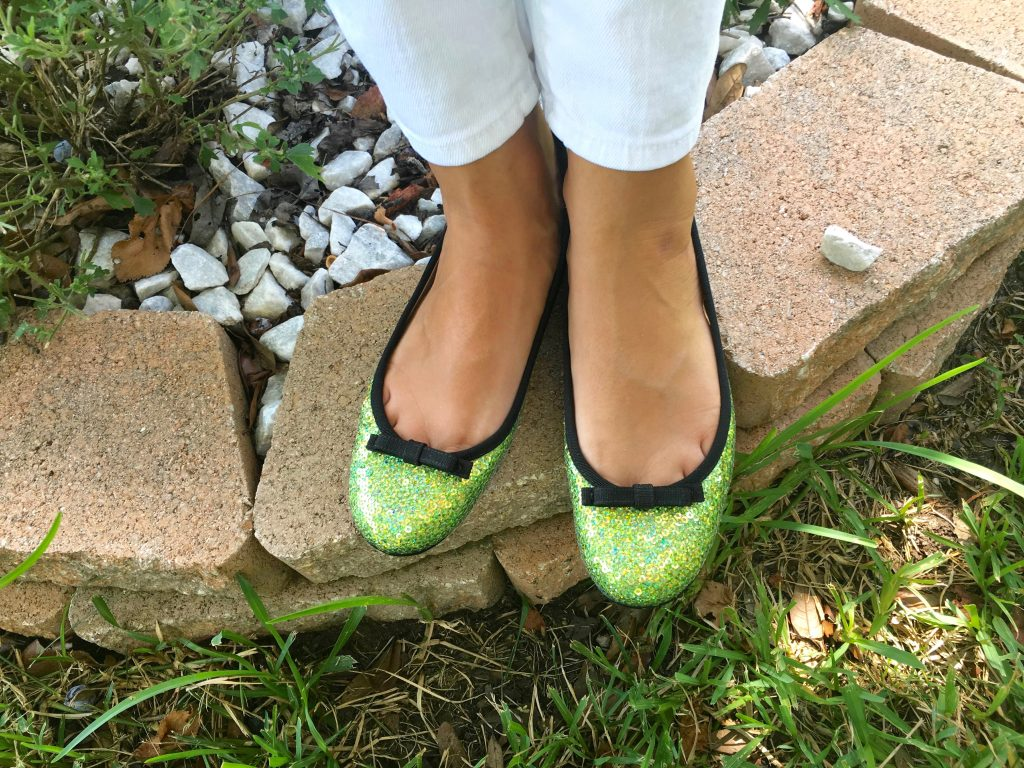Liliya's adorable green flats