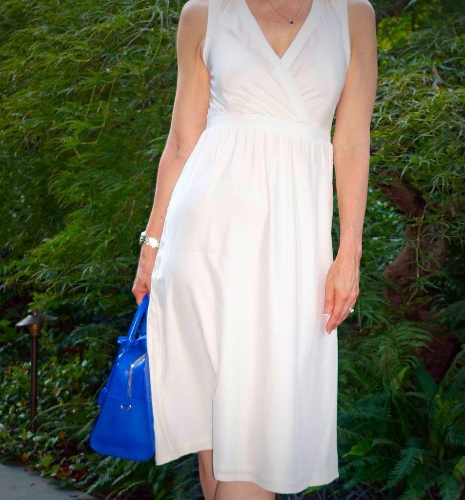 Close up of white dress