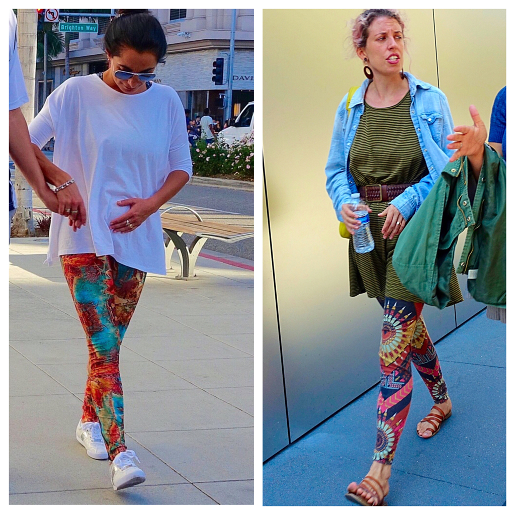 West coast leggings style, L.A. and San Francisco